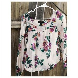 Jessica Simpson sheer floral top